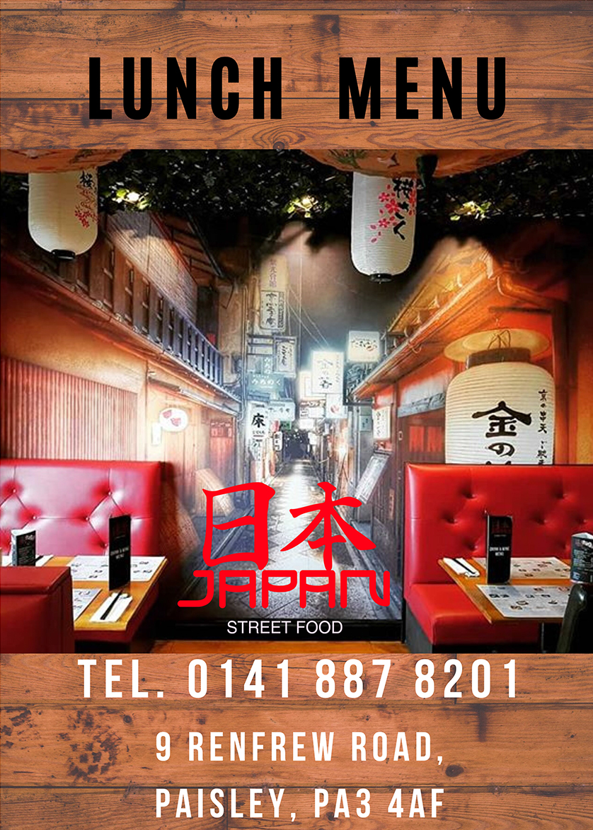 Lunch Menu Japan Street Food Paisley