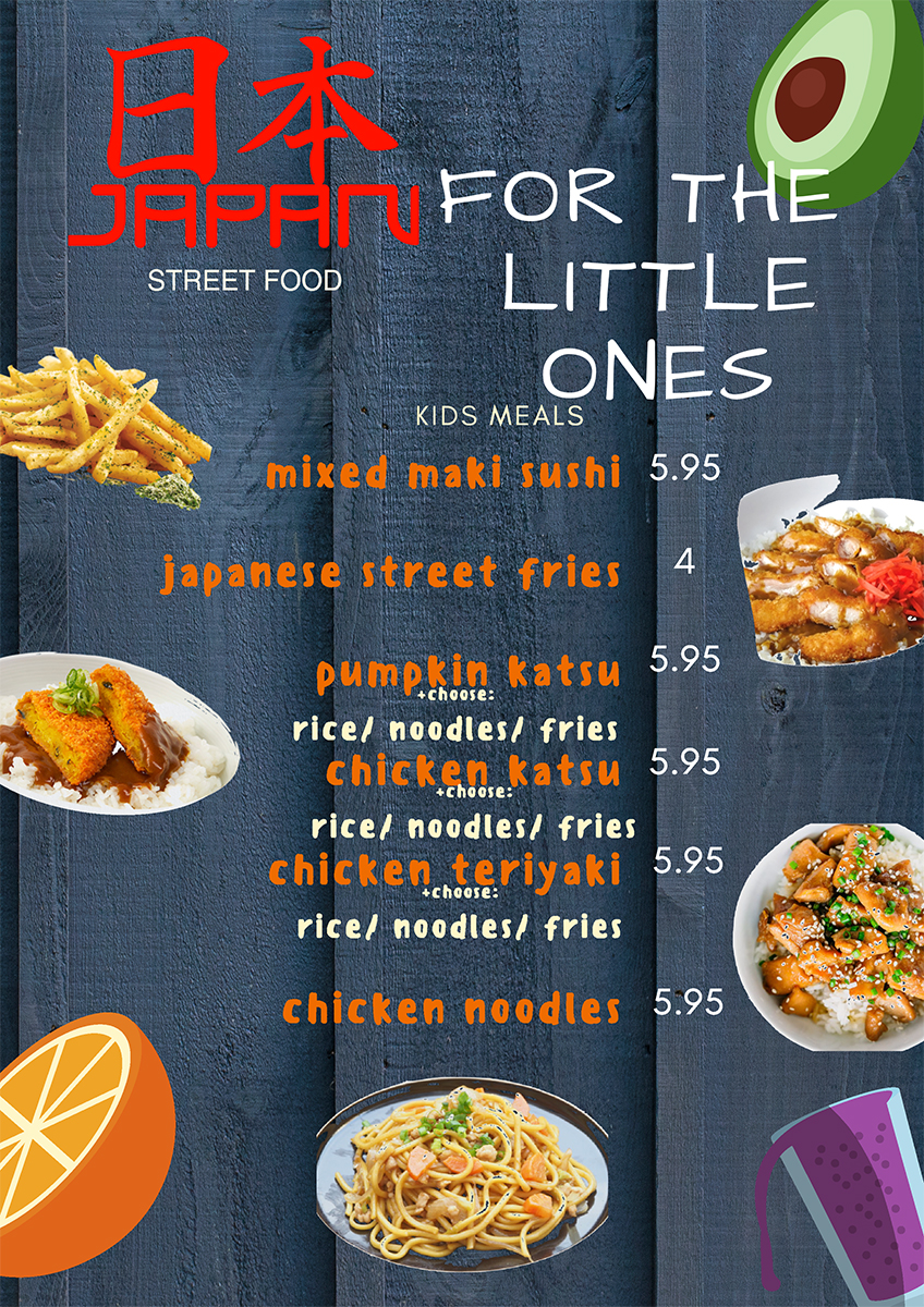 Japan Street Food Paisley Children Menu