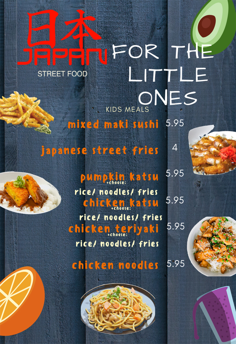 Japan Street Food Paisley - Kids Menu