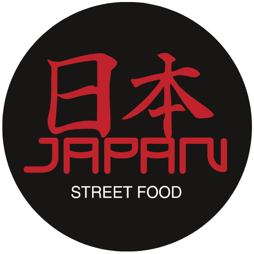 Japan Street Food Paisley Logo Black background red logo