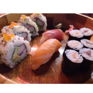 mix sushi platters at Japan Street Food Paisley