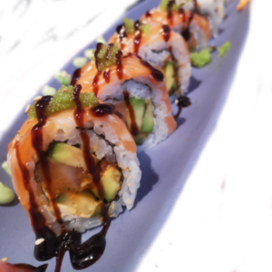 Salmon avocado roll at Japan Street Food Paisley