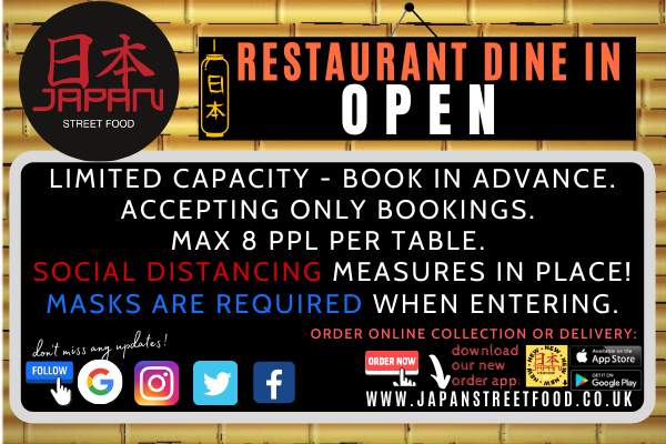 dine in reopen Japan Street Food Paisley